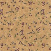 Moda Lady Slipper Lodge by Holly Taylor - 4018 - Blossoms on Buttercream - 6583 12 - Cotton Fabric